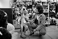 Montreal, Canada. May 1977. French pop singer Gerard Lenorman at Toy Store in Canada holding a Pink Panther.