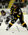 1 December 2007: University of Vermont Catamounts' defenseman Kyle Kuk, a Junior from Monroe, MI, in action against the Providence College Friars at Gutterson Fieldhouse in Burlington, Vermont. The Friars defeated the Catamounts 4-0 in front of a capacity crowd of 4003, for the 64th consecutive sell-out at Gutterson...Mandatory Photo Credit: Ed Wolfstein Photo