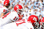 02 September 2006: Rutgers Mike Teel (14). The University of North Carolina Tarheels lost 21-16 to the Rutgers Scarlett Knights at Kenan Stadium in Chapel Hill, North Carolina in an NCAA Division I College Football game.