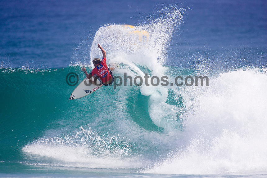 TAJ BURROW (AUS)  in action during the elimination Round 2 of the Quiksilver Pro Gold Coast  today March 4,2007 in clean 3 to 4 foot (0.9-1.2 metre) surf at Snapper Rocks,  Gold Coast, Queensland, Australia. BURROW defeated tour rookie LUKE MUNRO (AUS) to advance to round three. Photo: Joli