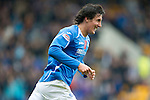 St Johnstone v Inverness Caley Thistle...15.10.11   SPL Week 11.Francisco Sandaza celebrates his goal.Picture by Graeme Hart..Copyright Perthshire Picture Agency.Tel: 01738 623350  Mobile: 07990 594431