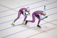 SCHAATSEN: HEERENVEEN: 15-09-2014, IJsstadion Thialf, Topsporttraining, Kai Verbij, Thomas Krol, ©foto Martin de Jong