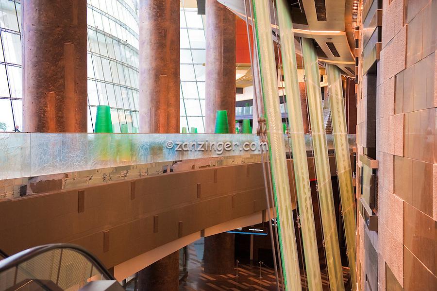 Aria Resort & Casino, North, Four two-story glass water walls form Latice, CityCenter, Las Vegas, Nevada, USA Hospitality