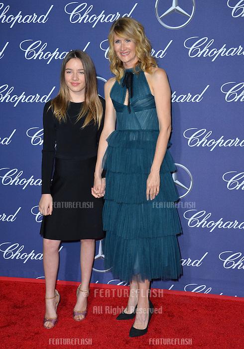 Actress Laura Dern &amp; daughter Jaya Harper at the 2017 Palm Springs Film Festival Awards Gala. January 2, 2017<br /> Picture: Paul Smith/Featureflash/SilverHub 0208 004 5359/ 07711 972644 Editors@silverhubmedia.com