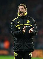 FUSSBALL   1. BUNDESLIGA   SAISON 2012/2013    20. SPIELTAG Bayer 04 Leverkusen - Borussia Dortmund                  03.02.2013 Trainer Juergen Klopp (Borussia Dortmund) jubelt nach dem Abpfiff