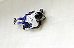 15 December 2006: Amy Williams from Great Britain, banks through a turn at the FIBT Women's World Cup Skeleton Competition at the Olympic Sports Complex on Mount Van Hoevenburg  in Lake Placid, New York, USA. &amp;#xA;&amp;#xA;Mandatory Photo credit: Ed Wolfstein Photo<br />