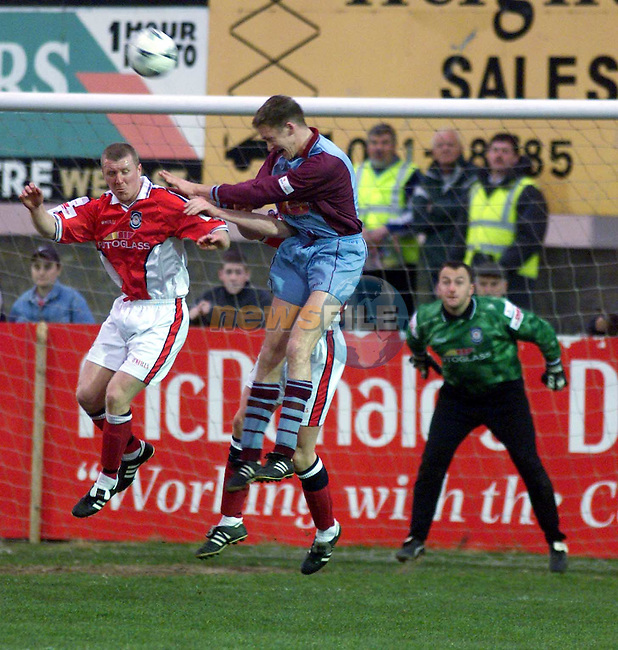 Action from Drogheda V St. Pats..Picture Paul Mohan Newsfile