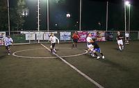 Football match between Tintorera restaurant staff, Mexico City
