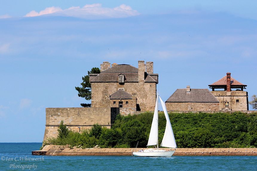 Fort Niagara near Youngstown, New York, on the eastern bank of the Niagara River at its mouth, on Lake Ontario.
