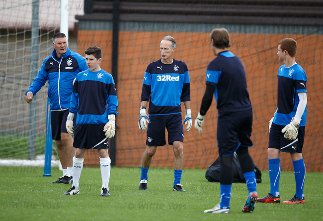 Jim Stewart and Scott Thomson coaching the keepers