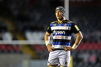 David Denton of Bath Rugby looks on during a break in play. Aviva Premiership match, between Leicester Tigers and Bath Rugby on November 29, 2015 at Welford Road in Leicester, England. Photo by: Patrick Khachfe / Onside Images