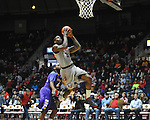 "Mississippi's Murphy Holloway (31) shoots as Lipscomb's Deonte Alexander (4) defends in the first half at the CM. ""Tad"" Smith Coliseum in Oxford, Miss. on Friday, November 23, 2012. (AP Photo/Oxford Eagle, Bruce Newman)"