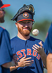 4 March 2016: Houston Astros pitcher Jake Buchanan warms up prior to a Spring Training pre-season game against the St. Louis Cardinals at Osceola County Stadium in Kissimmee, Florida. The Astros defeated the Cardinals 6-3 in Grapefruit League play. Mandatory Credit: Ed Wolfstein Photo *** RAW (NEF) Image File Available ***