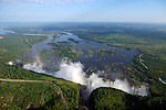 Zambezi River from the air. Zambia