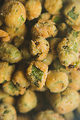 Raleigh, North Carolina - Friday January 8, 2016 - Fried Okra at Tupelo Honey in Raleigh, North Carolina.