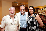 Waterbury, CT- 19 May 2017-051917CM16- SOCIAL MOMENTS-- From left,  Mike Gow of Torrington with NEAE, Frank Tavera, CEO of the Palace Theater and Ana Dec with the Palace Theater,  during the Palace Theater's Palace 10.2: City Lights, City Nights celebration.  Christopher Massa Republican-American
