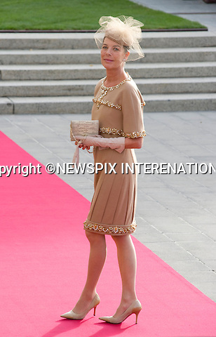 "PRINCESS CAROLINE OF HANOVER.Wedding of HRH the Hereditary Grand Duke and Countess Stéphanie de Lannoy.Religious Ceremony at Cathedral of Our lady of Luxembourg, Luxembourg_20-10-2012.Mandatory credit photo: ©Dias/NEWSPIX INTERNATIONAL..(Failure to credit will incur a surcharge of 100% of reproduction fees)..                **ALL FEES PAYABLE TO: ""NEWSPIX INTERNATIONAL""**..IMMEDIATE CONFIRMATION OF USAGE REQUIRED:.Newspix International, 31 Chinnery Hill, Bishop's Stortford, ENGLAND CM23 3PS.Tel:+441279 324672  ; Fax: +441279656877.Mobile:  07775681153.e-mail: info@newspixinternational.co.uk"