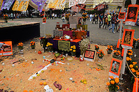 Saint images are seen at Autonomous University of Mexico while they  celebrate the day of the dead in honor  to the 50 anniversary of the death of the Spanish-Mexican surrealist painter Remedios Varo, October 25, 2013. Photo by Miguel Angel Pantaleon/VIEWpress