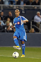 Matteo Ferrari (13) defender Montreal Impact in action..Sporting Kansas City defeated Montreal Impact 2-0 at Sporting Park, Kansas City, Kansas.