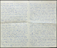 BNPS.co.uk (01202 558833)<br /> Pic: Gorringes/BNPS<br /> <br /> ****must use full byline****<br /> <br /> Letter from Reggie to Frances when he was in Wandsworth prison.<br /> A diary kept by the tragic wife of Reggie Kray describing her hellish life with the gangster including having to share a bed with a gun and a flick-knife has emerged.<br /> <br /> Long-suffering Frances Kray wrote of the constant abuse and drunken temper bouts she endured at the hands of the East End villain.<br /> <br /> Describing how Reggie kept a cache of deadly weapons in their bedroom, she said: &quot;(He) came back night time. By the side of bed gun, sword, knife, chopper, flick-knife.<br /> <br /> &quot;He used to sleep with flick-knife under his pillow.&quot;<br /> <br /> The diary along with letters and photographs are being auctioned tomorrow (Weds) at Gorringes, East Sussex.