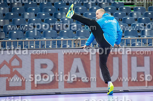Gorazd Skof of Slovenia during practice session of Team Slovenia on Day 1 of Men's EHF EURO 2016, on January 15, 2016 in Centennial Hall, Wroclaw, Poland. Photo by Vid Ponikvar / Sportida