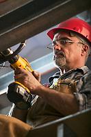 Construction worker at BESS in Fairbanks, Alaska