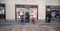 The Tous jewelry store in Rockefeller Center in Midtown Manhattan in New York on Thursday, August 28, 2014. Joyeria Tous SA, the Spanish jeweler is reported to in talks with Morgan Stanley about either seeking an IPO or the sale of a minority stake in the company. The jeweler has over 400 stores around the world and started in 1920. (©Richard B. Levine)