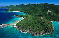 North Shore St John aerial view.US Virgin Islands