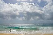 Body surfing at Sandy Beach