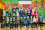 Medal Presentation : The Ballyduff U/6 & U/8 hurlers & footballers who were presented with their medals by Clare Hurler Tony Kelly at Ballyduff Central School on Saturday nigh last.