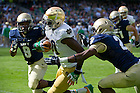 Sept. 1, 2012; Notre Dame wide receiver DaVaris Daniels gains yardage during the second quarter of the 2012 Emerald Isle Classic against Navy at Aviva Stadium in Dublin, Ireland. Photo by Barbara Johnston/University of Notre Dame