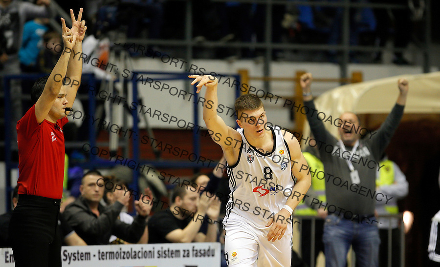 Edo Muric Aba Jadranska Regionalna liga, Partizan - Zadar, 25. kolo Beograd, Srbija, 15.3.2015.  (credit image & photo: Pedja Milosavljevic / STARSPORT).
