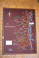Map. Restaurant La Maison des Beaujolais. Beaujolais, Burgundy, France
