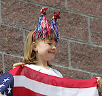 23 October 2005: Unidentified young US fan shows her colors, pregame. The United States Women's National Team defeated Mexico 3-0 at Blackbaud Stadium in Charleston, South Carolina in an International Friendly soccer match.