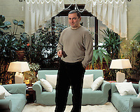 Moscow, Russia, 26/01/2002.&amp;#xD;Mikhail Khordokovsky, CEO &amp; Chairman of the giant Yukos oil company, at his home in a heavily guarded compound just outside Moscow.&amp;#xD;<br />