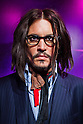Oct. 4, 2011 - Tokyo, Japan - The wax figure of Johnny Depp is displayed at the Madame Tussauds museum exhibit. The world's 13th Madame Tussauds museum showcases 19 wax figures of  celebrity musicians and movie stars. (Photo by Christopher Jue/AFLO)