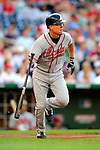 3 July 2009: Atlanta Braves third baseman Chipper Jones in action against the Washington Nationals at Nationals Park in Washington, DC. The Braves defeated the Nationals 9-8 to take the first game of the 3-game weekend series. Mandatory Credit: Ed Wolfstein Photo