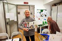 Roma 28 Dicembre 2011.Centro diurno per senzatetto 'Binario 95' in via Marsala 95, un ospite del centro.Day center for homeless people  'Track 95'  Via Marsala, a guest of the center