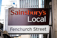 Sainsbury Local ,Supermarket Sign - Aug 2013