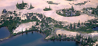 940000008 panoramic aerial view of sand eskers glacial ponds and taiga boreal forest in the northwest territories of northern canada