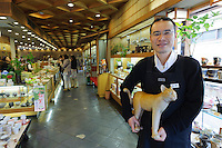 """Hirofumi Yamamoto of Kanekichien tea wholesalers, Yanaka, Tokyo, Japan, April 19, 2012. Yanaka is part of Tokyo's """"shitamachi"""" historic working class wards. Recently it has become popular with Japanese and foreign tourists for its many temples, shops, restaurants and relaxed atmosphere."""