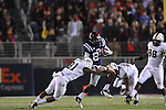 Ole Miss wide receiver Ja-Mes Logan (85) vs. Vanderbilt safety Javon Marshall (31) and Vanderbilt linebacker Larry Franklin (30) at Vaught-Hemingway Stadium in Oxford, Miss. on Saturday, November 10, 2012. (AP Photo/Oxford Eagle, Bruce Newman)