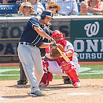 24 July 2016: San Diego Padres outfielder Alex Dickerson in action against the Washington Nationals at Nationals Park in Washington, DC. The Padres defeated the Nationals 10-6 to take the rubber match of their 3-game, weekend series. Mandatory Credit: Ed Wolfstein Photo *** RAW (NEF) Image File Available ***