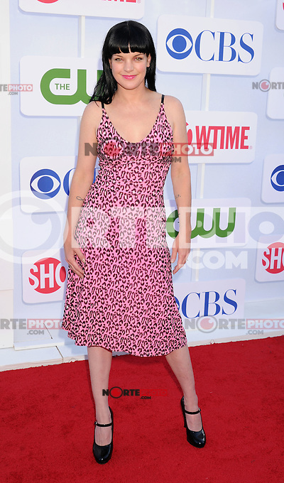 BEVERLY HILLS, CA - JULY 29: Pauley Perrette arrives at the CBS, Showtime and The CW 2012 TCA summer tour party at 9900 Wilshire Blvd on July 29, 2012 in Beverly Hills, California. /NortePhoto.com<br />