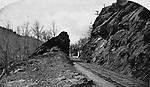 The railroad tracks through Waterville, circa 1885.