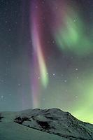 Aurora borealis and the Brooks Range.