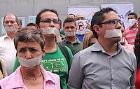 Protesta periodistas en Medellin por asesinato de colega en Taraza,13-08-2014