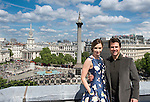 "LONDON, ENGLAND - MAY 25:  Emily Blunt and Tom Cruise poses at a photocall for ""Edge Of Tomorrow"" on the rooftop of the Trafalgar Hotel on May 25, 2014 in London, England."