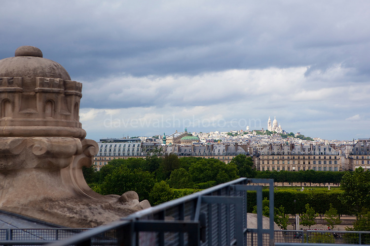 View of Sacre Coeur from the Musee d'Orsay, Paris.