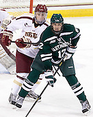 Teddy Doherty (BC - 4), Jack Barre (Dartmouth - 12) - The Boston College Eagles defeated the visiting Dartmouth College Big Green 6-3 (EN) on Saturday, November 24, 2012, at Kelley Rink in Conte Forum in Chestnut Hill, Massachusetts.
